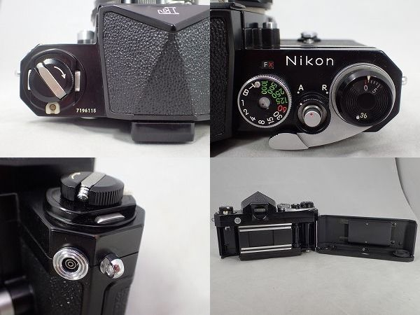 NIKON F ブラック ニコン エフ + NIKKOR-H Auto 50㎜f2 箱付 動作確認済み_画像8