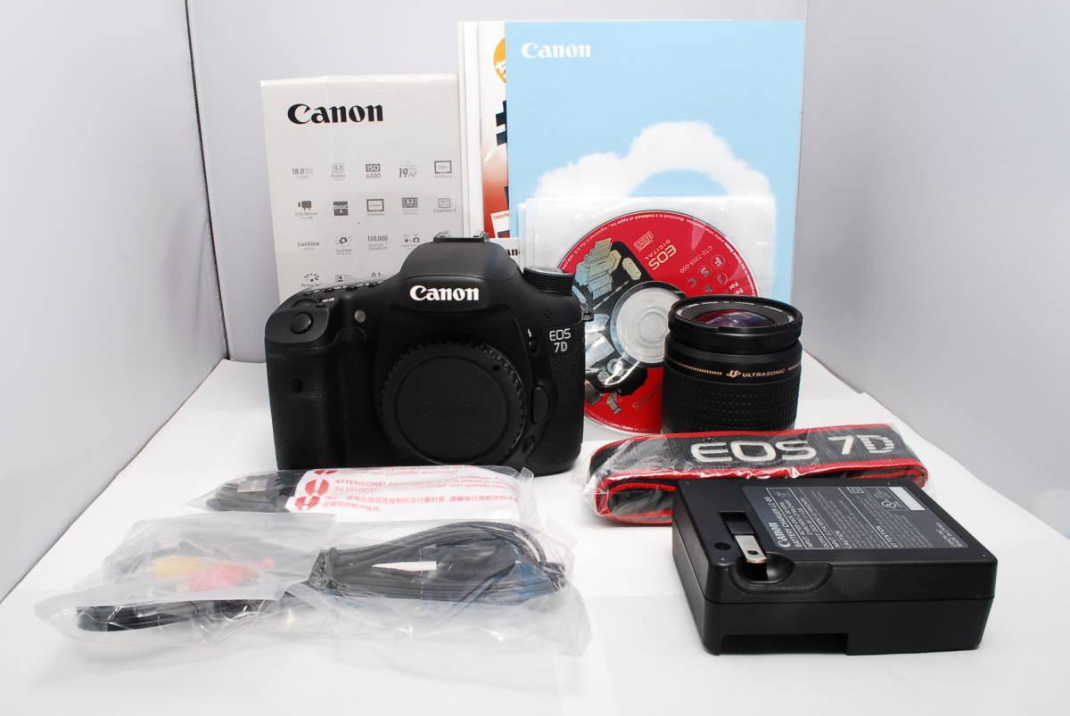 〓外観綺麗〓キヤノン EOS 7D 元箱 付属品多数 レンズ付き