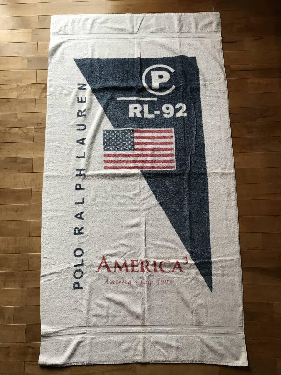 Super Rare Rl 92 Polo Ralph Lauren Beach Towel