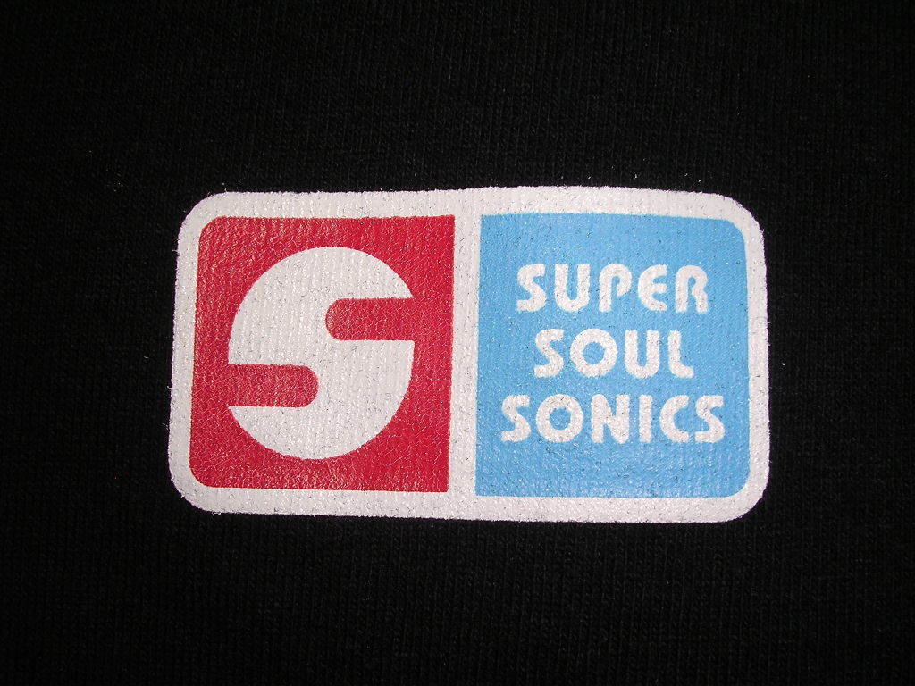希少 レア SUPER SOUL SONICS Tシャツ L 黒 スーパーソウルソニックス_画像3