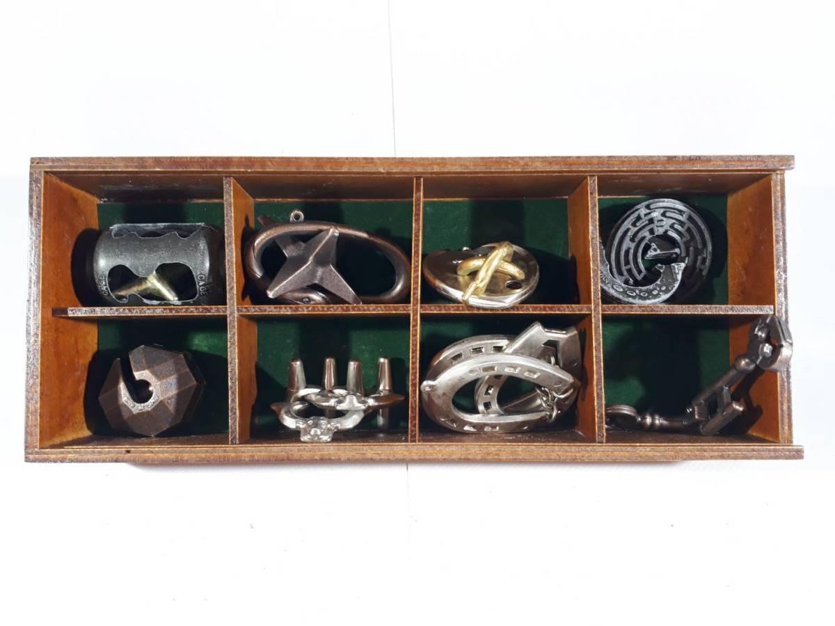 [67]はなやま玩具 キャストパズル 知恵の輪 8個