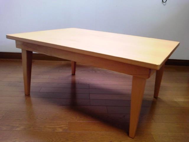 彡無印良品☆彡 ローテーブル 折りたたみ ちゃぶ台 ナチュラル 約幅80cm×奥行