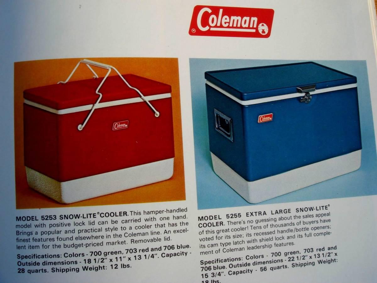 稀少資料【Coleman】美本★米国コールマン★OUTING PRODUCTS Catalog 1972★入手困難♪_スチールベルトも満載です♪