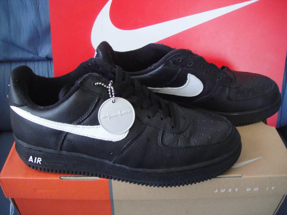 60e71d8eba14 NIKE AIR FORCE 1 B BLACK WHITE new goods 28.0Cm Nike Air Force black ...