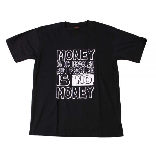 jw●新品 黒 Lサイズ●MONEY IS NO PROBLEM BUT PROBLEM IS NO MONEY 半袖Tシャツ//バンドTシャツ ロックTシャツ おもしろ ネタ お金
