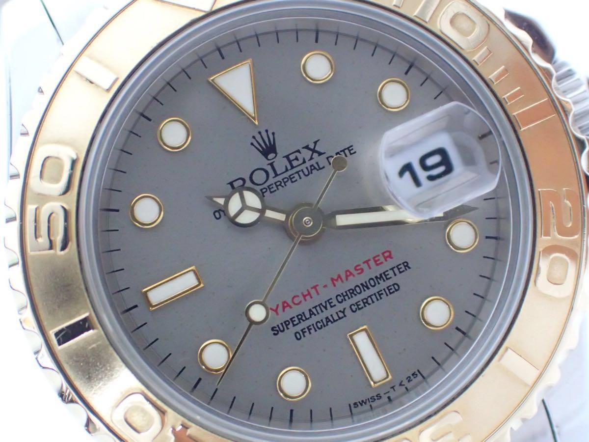 ロレックス ヨットマスター 69623 T番 YG×SS レディース_画像4