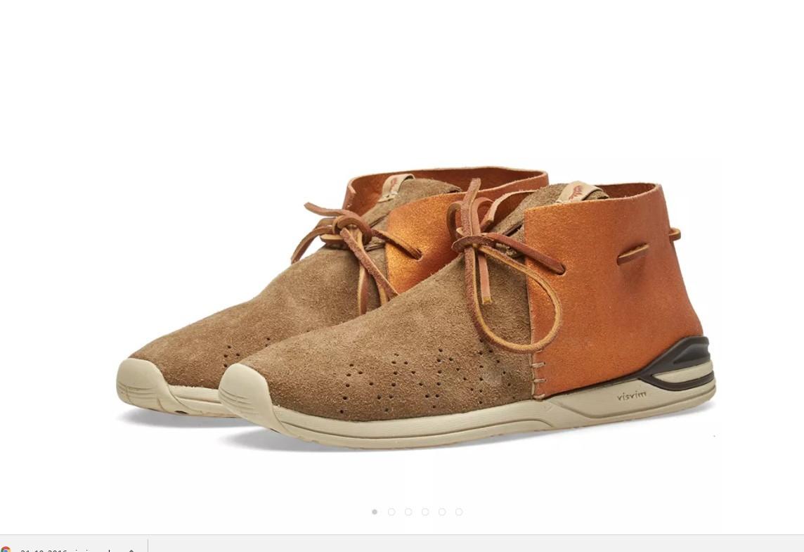 【新品】visvim HURON MOC-FOLK BEIGE M8 0116202002002 シューズ 靴_画像1