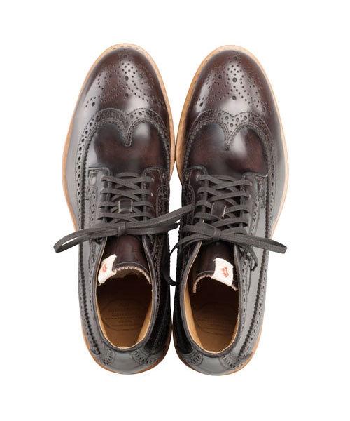visvim patrician mid wt-folk 靴 ウィングチップ 27.5_画像2