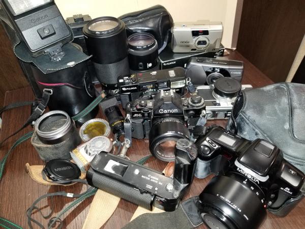 4-7 Canon キャノン A-1 / モータードライブMA / その他レンズ付属品ジャンクおまとめ
