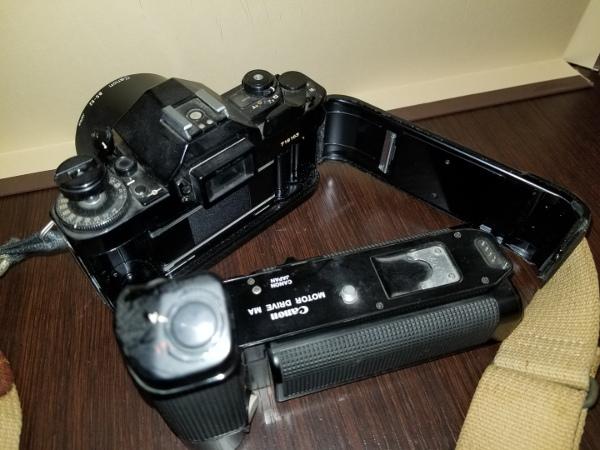 4-7 Canon キャノン A-1 / モータードライブMA / その他レンズ付属品ジャンクおまとめ_画像3