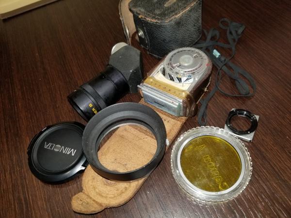 4-7 Canon キャノン A-1 / モータードライブMA / その他レンズ付属品ジャンクおまとめ_画像6