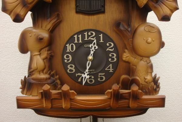 【超希少・廃盤】CITIZEN シチズン スヌーピー 木製 壁掛け 鳩時計【4MJ7620-0】_画像3