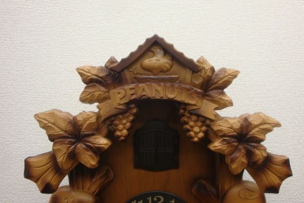 【超希少・廃盤】CITIZEN シチズン スヌーピー 木製 壁掛け 鳩時計【4MJ7620-0】_画像2