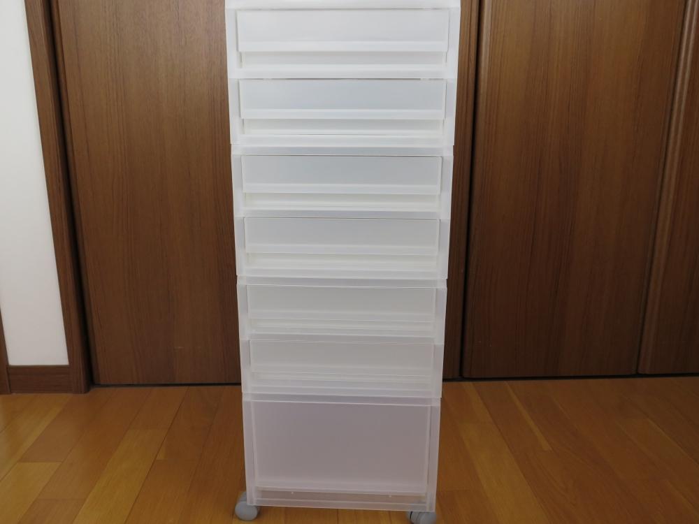 ポリプロピレンケース・引出式 薄型・2個・約370×260×88mm 1399円これを3個購入☆ (使い方はまた今度書きますね♪)