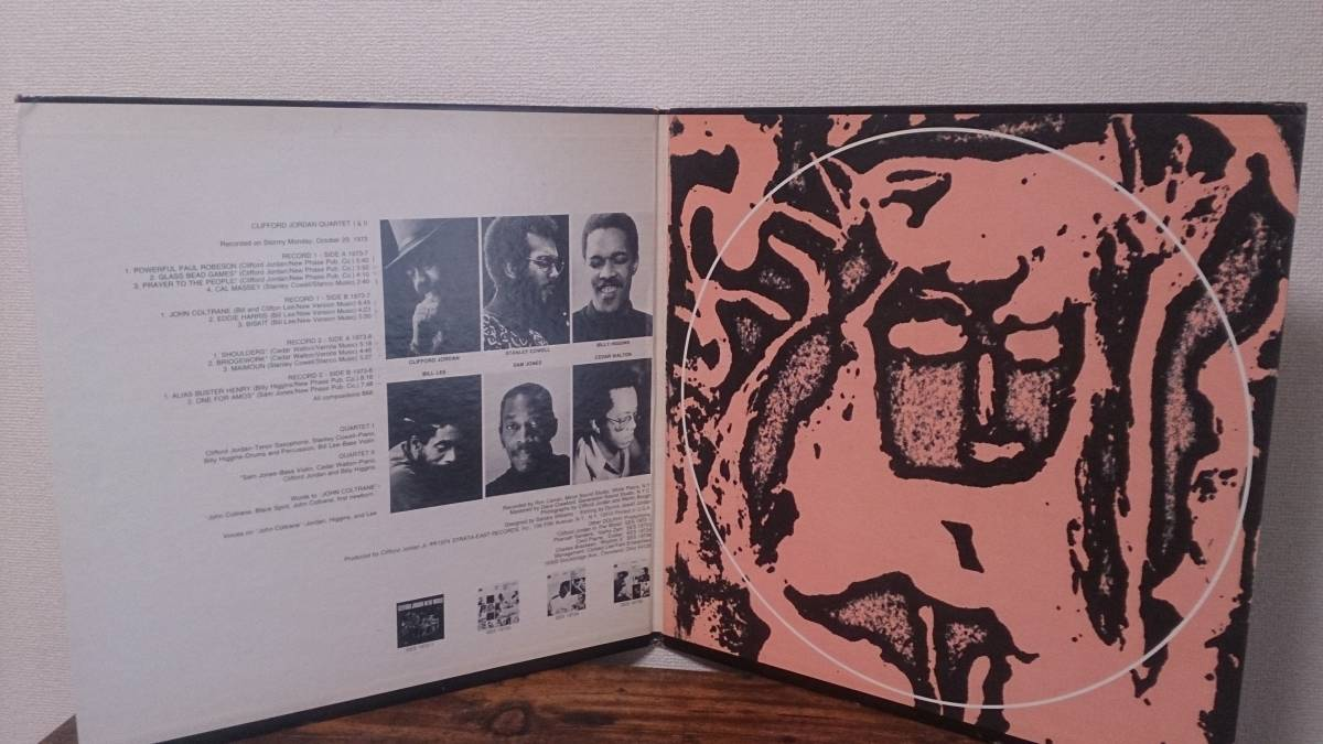 USオリジナル! Clifford Jordan / Grass Bead Games SES-19737/19738 strata east名盤 _画像3