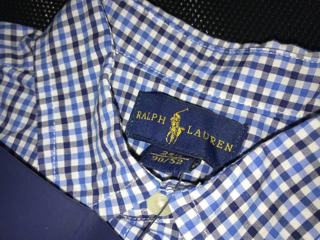 新品タグ付 ★ラルフローレンの長袖チェックシャツ★日本国内デパート購入品★24M_画像4