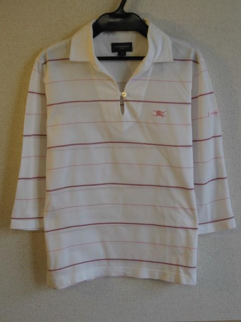 537a12dce3f84 ☆BURBERRY GOLF /バーバリー 鹿の子 ワンポイント刺繍 薄手 ポロシャツ/ゴルフウェア/M