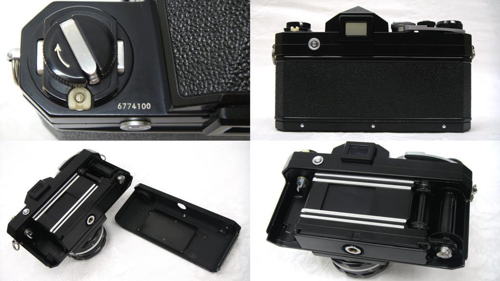 【SZ4249】1円スタート Nikon F ニコン一眼レフカメラ ブラックボディ&レンズ NIKKOR-H Auto 1:2 f=50mm 中古品_画像7