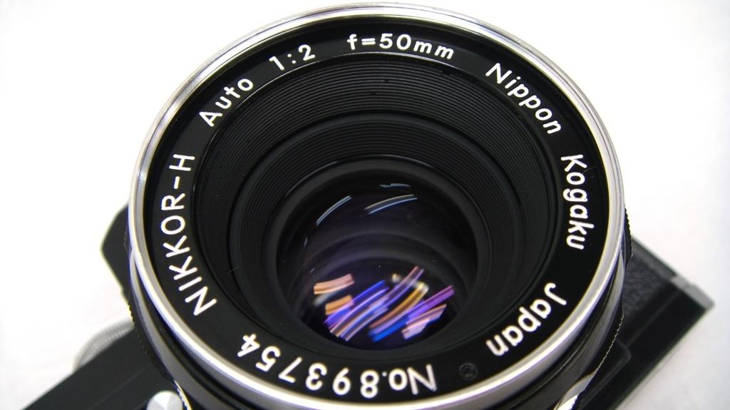 【SZ4249】1円スタート Nikon F ニコン一眼レフカメラ ブラックボディ&レンズ NIKKOR-H Auto 1:2 f=50mm 中古品_画像3