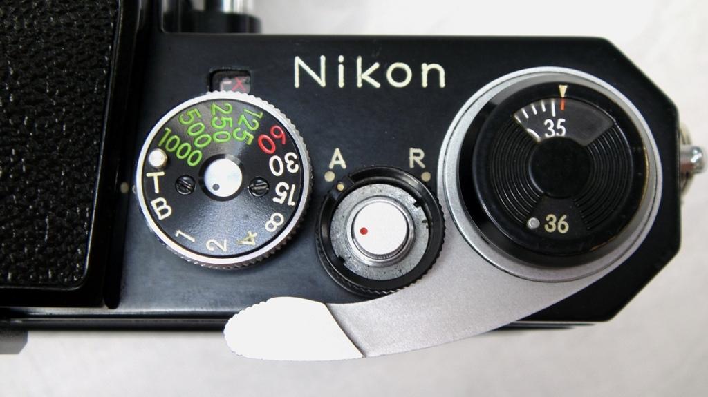 【SZ4249】1円スタート Nikon F ニコン一眼レフカメラ ブラックボディ&レンズ NIKKOR-H Auto 1:2 f=50mm 中古品_画像6