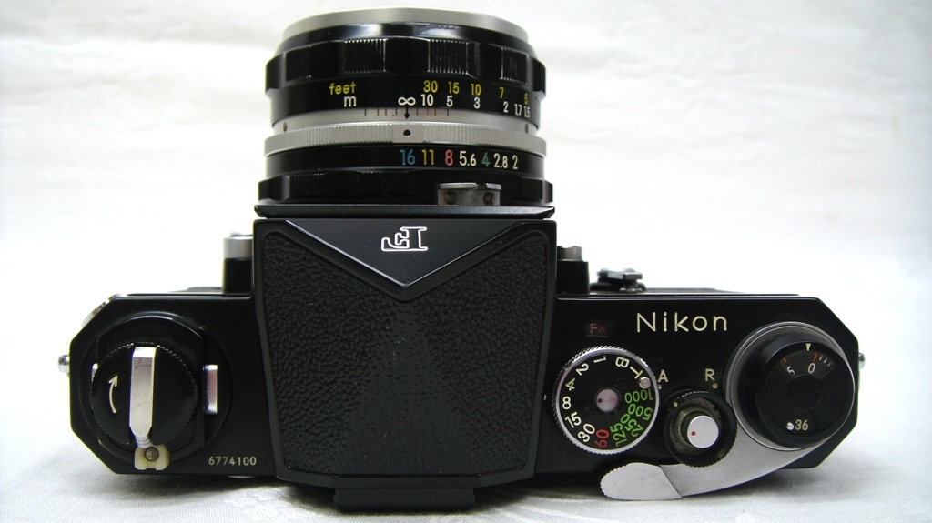 【SZ4249】1円スタート Nikon F ニコン一眼レフカメラ ブラックボディ&レンズ NIKKOR-H Auto 1:2 f=50mm 中古品_画像5