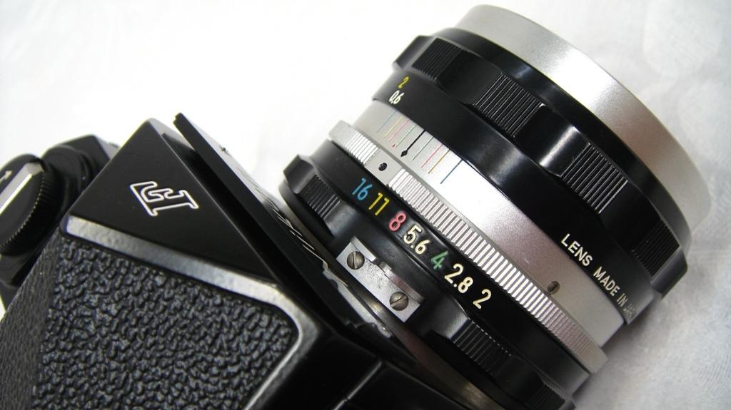 【SZ4249】1円スタート Nikon F ニコン一眼レフカメラ ブラックボディ&レンズ NIKKOR-H Auto 1:2 f=50mm 中古品_画像4