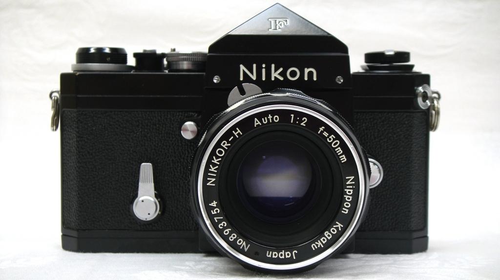 【SZ4249】1円スタート Nikon F ニコン一眼レフカメラ ブラックボディ&レンズ NIKKOR-H Auto 1:2 f=50mm 中古品_画像2