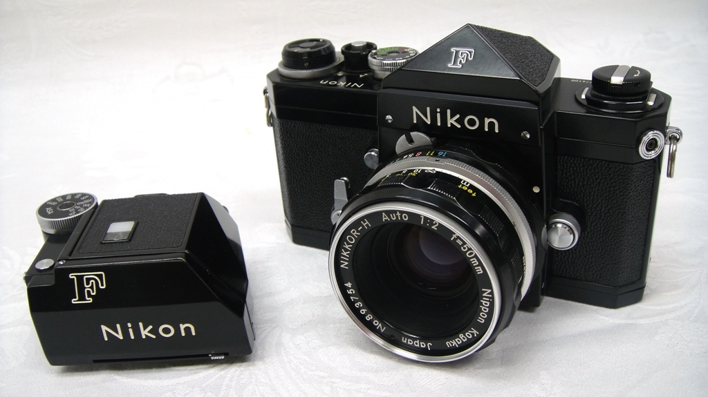 【SZ4249】1円スタート Nikon F ニコン一眼レフカメラ ブラックボディ&レンズ NIKKOR-H Auto 1:2 f=50mm 中古品