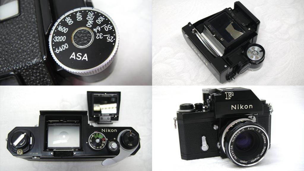 【SZ4249】1円スタート Nikon F ニコン一眼レフカメラ ブラックボディ&レンズ NIKKOR-H Auto 1:2 f=50mm 中古品_画像9