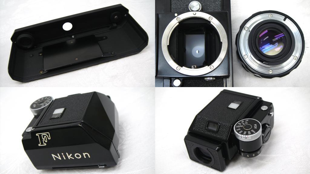 【SZ4249】1円スタート Nikon F ニコン一眼レフカメラ ブラックボディ&レンズ NIKKOR-H Auto 1:2 f=50mm 中古品_画像8