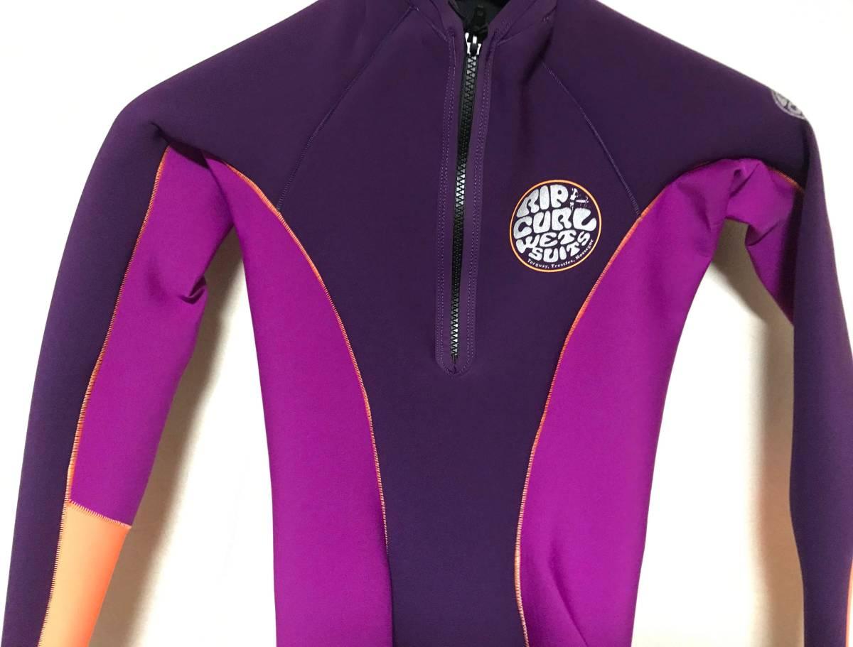 新品 リップカール RIP CURL 女性用ロングスリーブタッパー S 紫系 160cm前後 ウエットスーツ_画像2