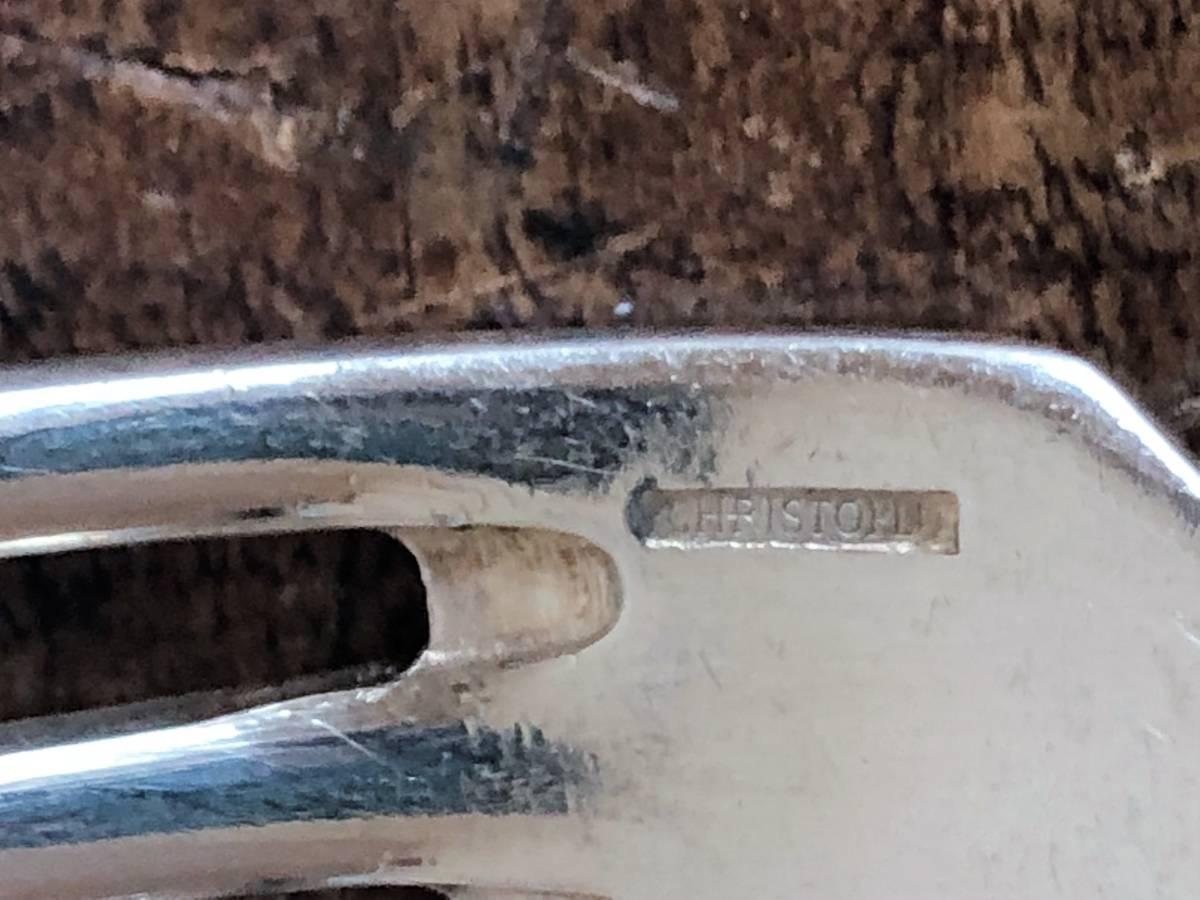クリストフル・スパトゥール 純銀メッキ製テーブルフォーク 4本 21.4㎝/Christofle/171 ⑮_画像2