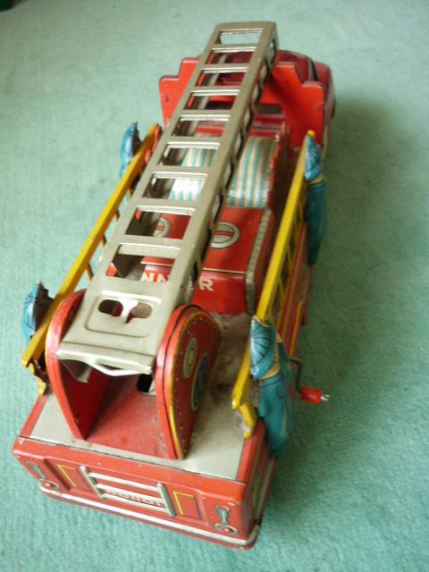 ☆超希少☆ヨネザワボンネット 消防車超  ブリキ玩具 当時物 美品_画像4