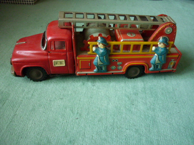 ☆超希少☆ヨネザワボンネット 消防車超  ブリキ玩具 当時物 美品