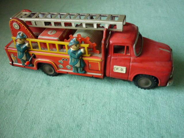 ☆超希少☆ヨネザワボンネット 消防車超  ブリキ玩具 当時物 美品_画像2