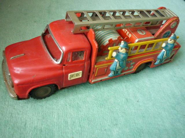☆超希少☆ヨネザワボンネット 消防車超  ブリキ玩具 当時物 美品_画像9