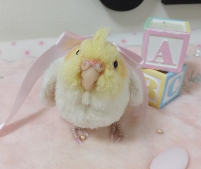 ベビー☆オカメインコ ふぅわふわ&おしりペタン♪ アトリエプリュムオリジナルバードフィギュア _画像8