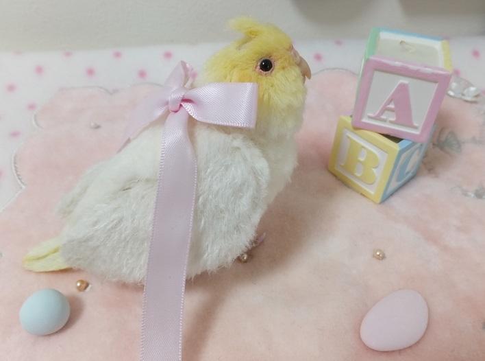 ベビー☆オカメインコ ふぅわふわ&おしりペタン♪ アトリエプリュムオリジナルバードフィギュア _画像3