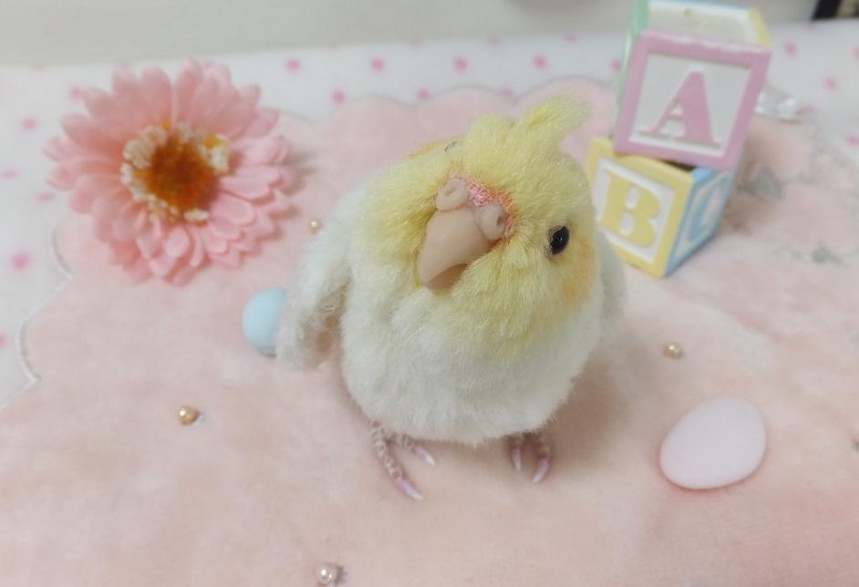 ベビー☆オカメインコ ふぅわふわ&おしりペタン♪ アトリエプリュムオリジナルバードフィギュア _画像2