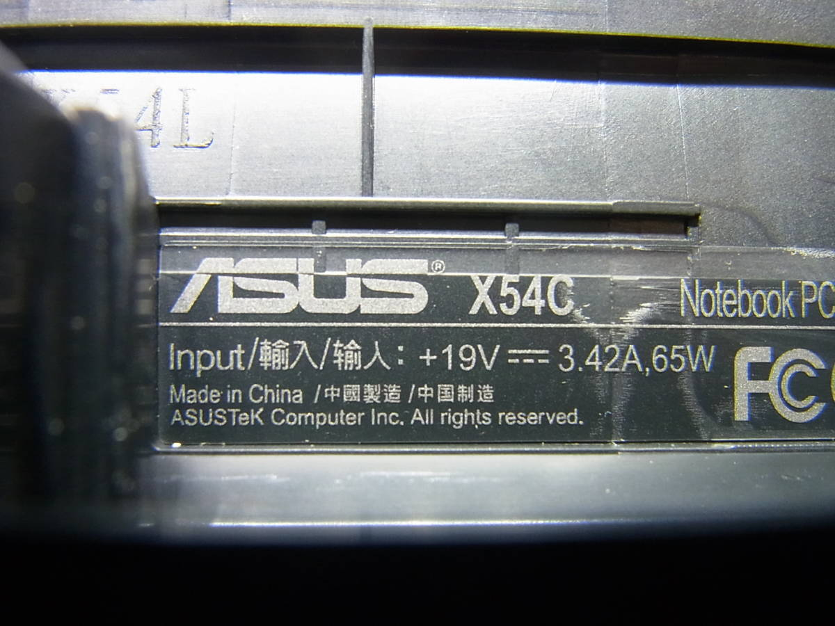 ⑥▲ASUS X54C B815 1.6GHz/4G/500GB/MULTI/Win7/無線LAN _画像9