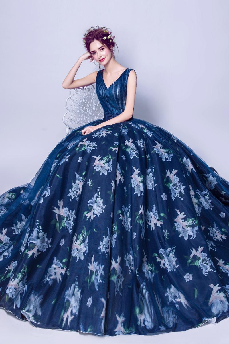 素敵なカラードレス 結婚式 披露宴 お色直し 二次会 パーティー 演奏会 発表会 ステージ衣装 TS225_画像6