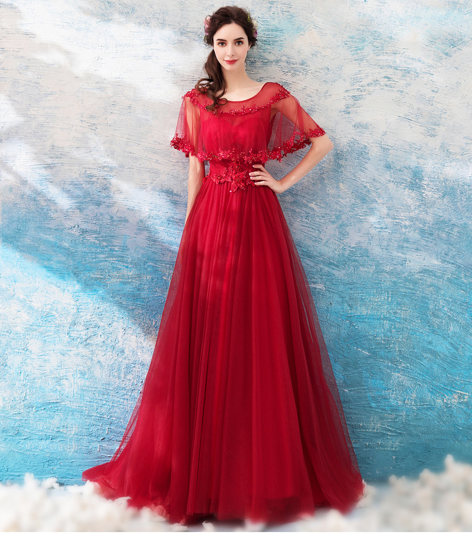 3d07b00004c46 素敵なウエディングドレスカラードレス 赤 編み上げ 結婚式 二次会 お色直し ステージ 演奏会 発表会 TS1235