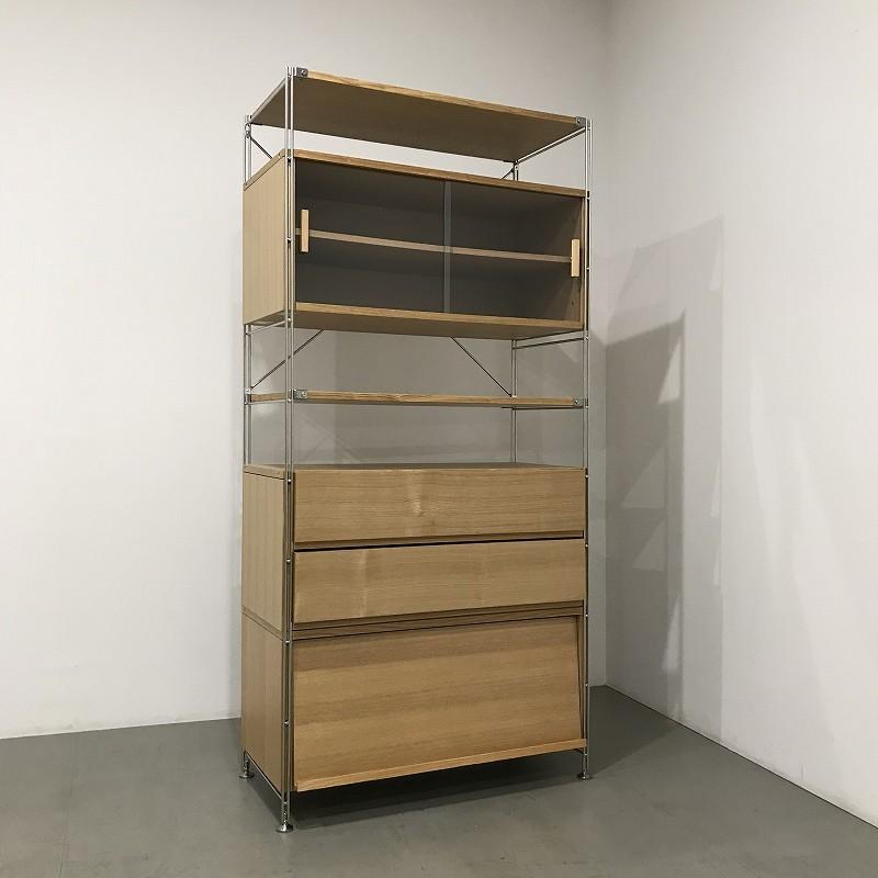 展示品 ◆ MUJI(無印良品) / ユニットシェルフ / カップボードセット / w860 / 11万円
