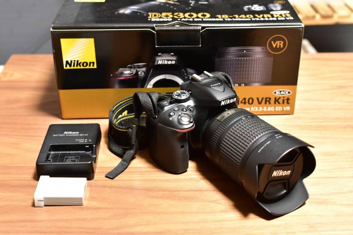 【旅行好きな方・インスタ写真に】NIKON ニコン D5300 18-140mmレンズキット 美品 デジタル一眼レフカメラ 予備バッテリー他付属品あり