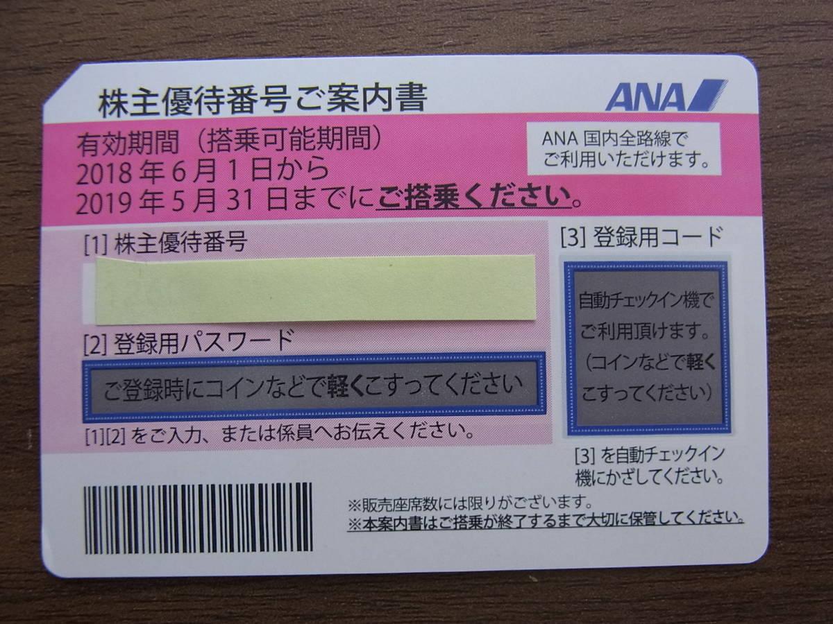 1円~■送料無料■ANA 全日空 株主優待券1枚 最新 2019年5月31日迄
