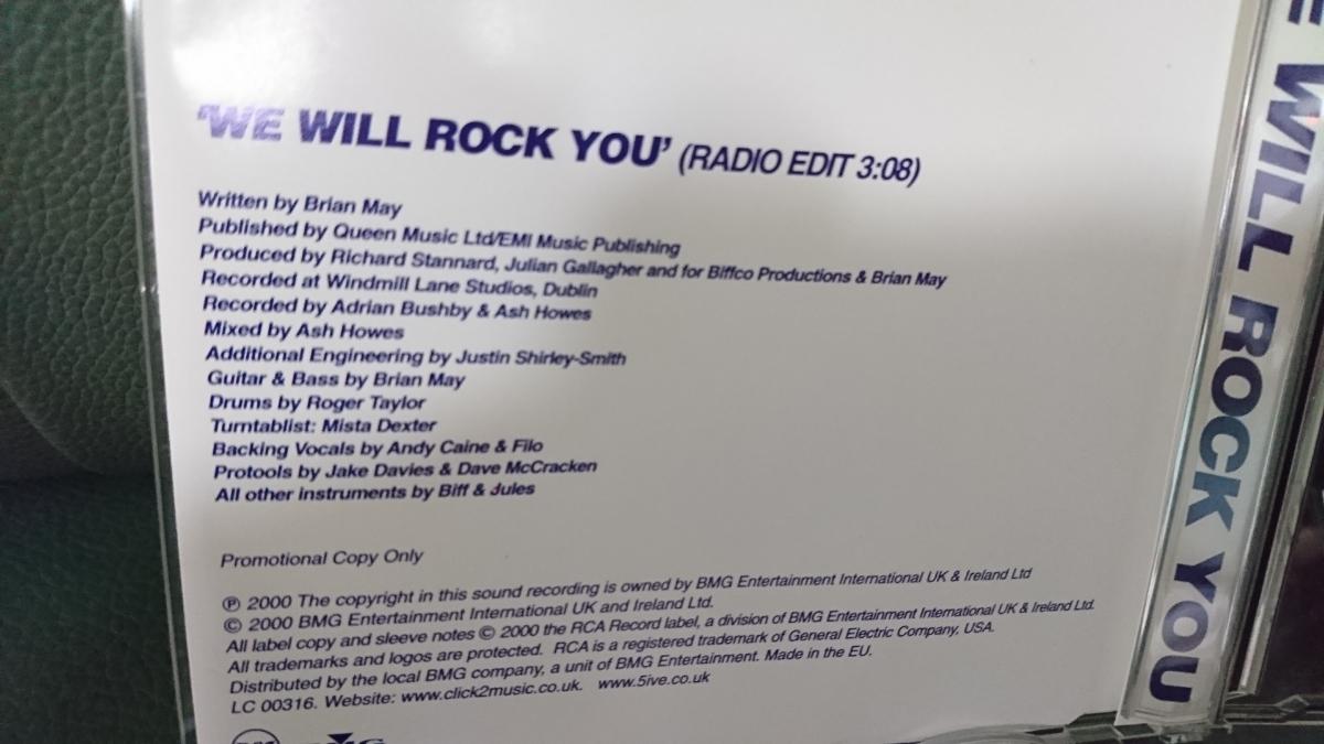 【レア】FIVE + QUEEN / WE WILL ROCK YOU 《シングルCD/ブライアンメイ参加》 クイーン QUEEN_画像3