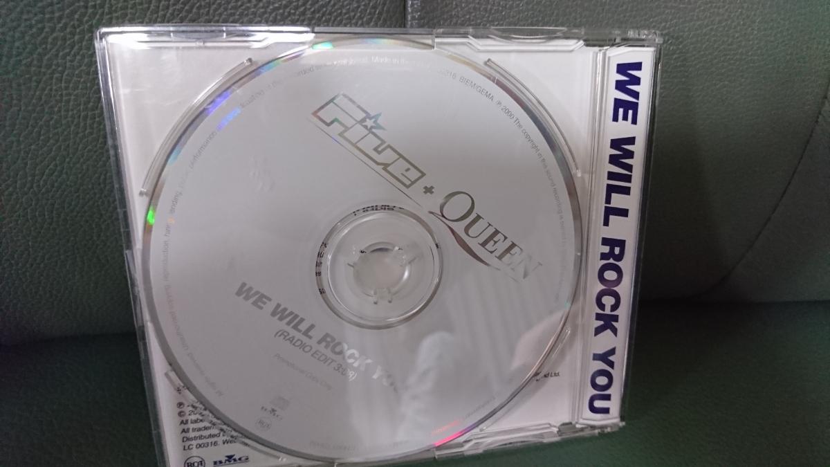 【レア】FIVE + QUEEN / WE WILL ROCK YOU 《シングルCD/ブライアンメイ参加》 クイーン QUEEN_画像2