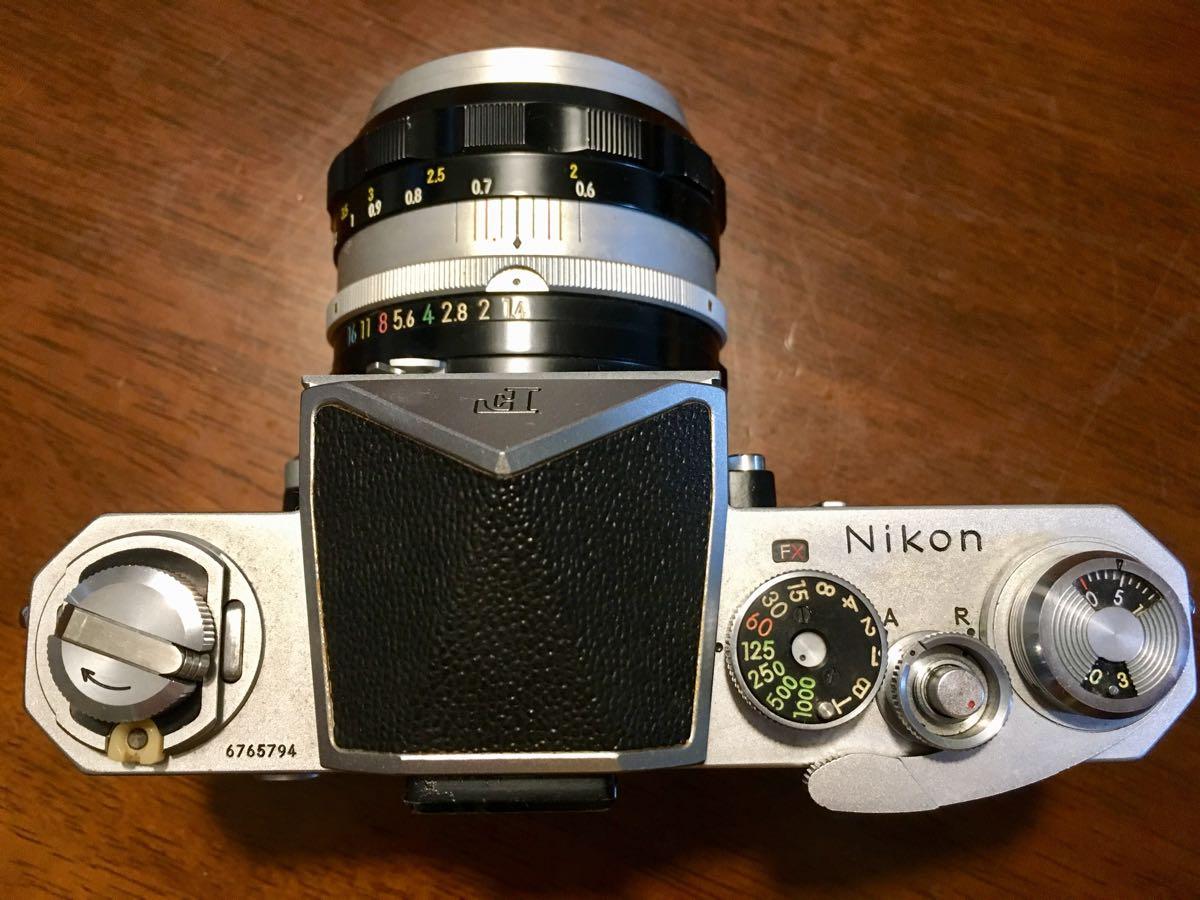 ニコン Nikon F レンズ NIKKOR-S Auto 1:1.14 f=50mm フィルムカメラ 中古 ジャンク_画像6
