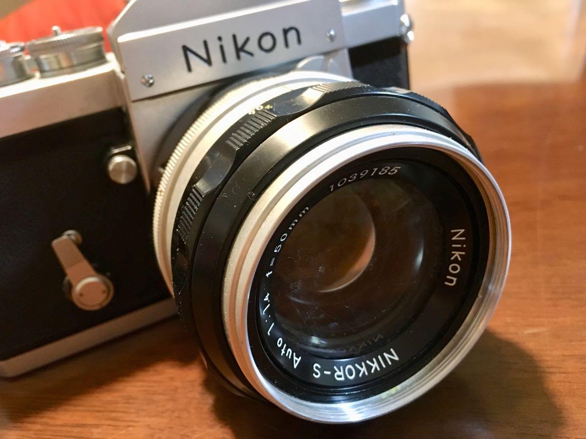 ニコン Nikon F レンズ NIKKOR-S Auto 1:1.14 f=50mm フィルムカメラ 中古 ジャンク_画像2