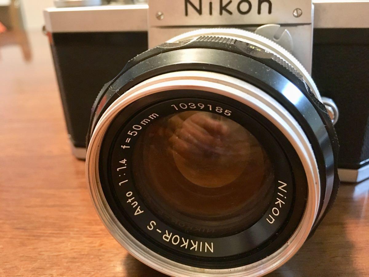 ニコン Nikon F レンズ NIKKOR-S Auto 1:1.14 f=50mm フィルムカメラ 中古 ジャンク_画像3